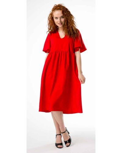 Вечернее платье свободного кроя - красное Innoe
