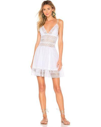 Деловое белое платье макси с подкладкой Charo Ruiz Ibiza