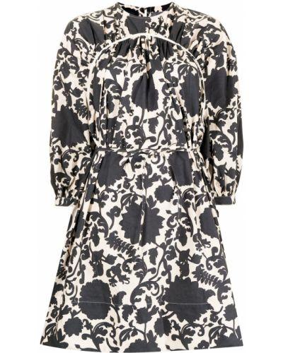 Шелковое платье мини - черное Eudon Choi