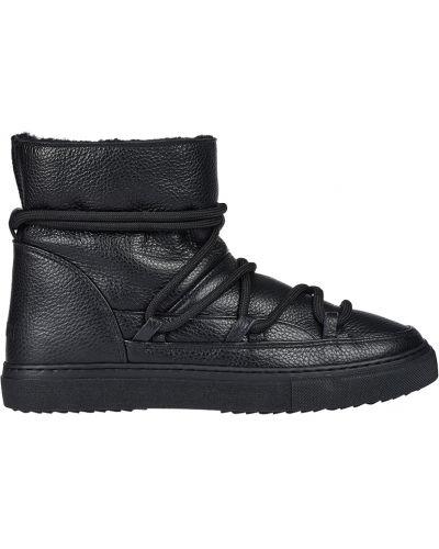 Кожаные ботинки осенние черные Inuikii