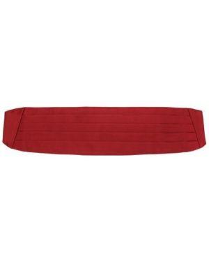 Красный шелковый камербанд Zilli