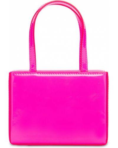 Кожаный топ - розовый Amina Muaddi