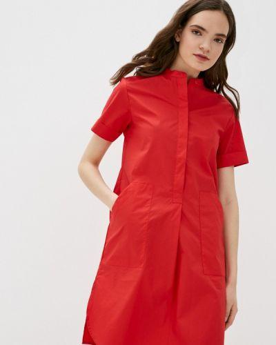 Красное платье-рубашка Savage