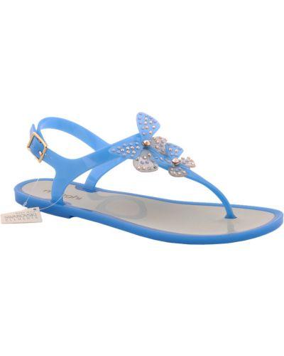 Силиконовые сандалии - голубые Menghi