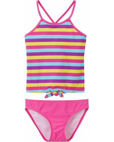 Базовый розовый купальник с подкладкой Bonprix