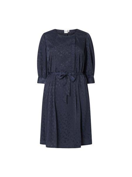 Niebieska sukienka mini rozkloszowana Junarose