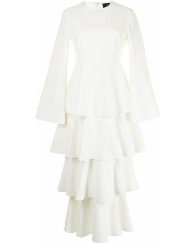 Платье макси с длинными рукавами - белое Solace London