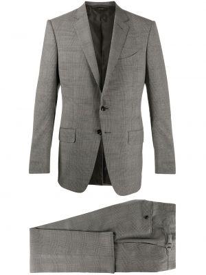Костюмный шерстяной серый костюм Tom Ford