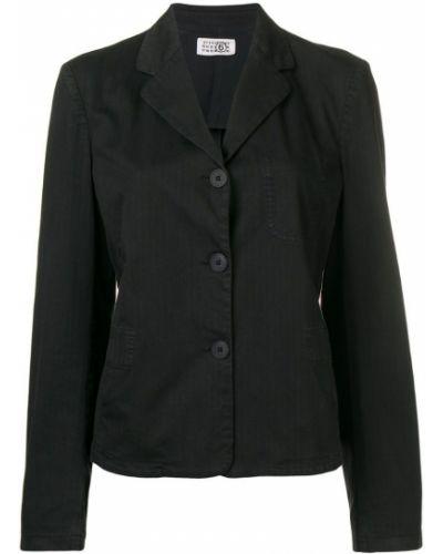 Черный удлиненный пиджак на пуговицах винтажный Maison Martin Margiela Pre-owned