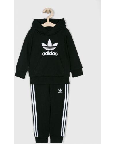 Czarny dres dzianinowy z kapturem Adidas Originals
