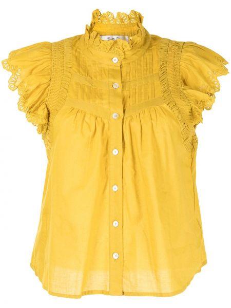 Блузка с короткими рукавами - желтая Sea