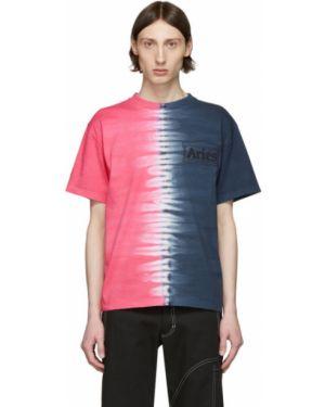Koszula krótkie z krótkim rękawem z kołnierzem fuksja Aries
