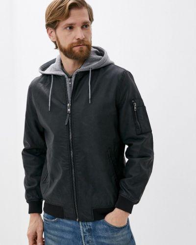 Черная кожаная куртка Springfield