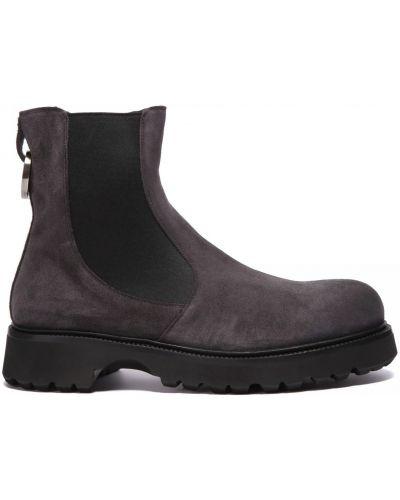 Серые кожаные ботинки на резинке Rocco P.
