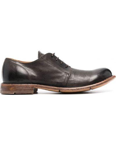 Коричневые кожаные туфли на каблуке Moma