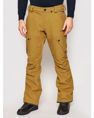 Brązowe spodnie Volcom