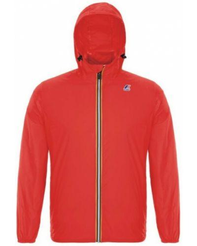 Czerwona kurtka z kapturem K-way