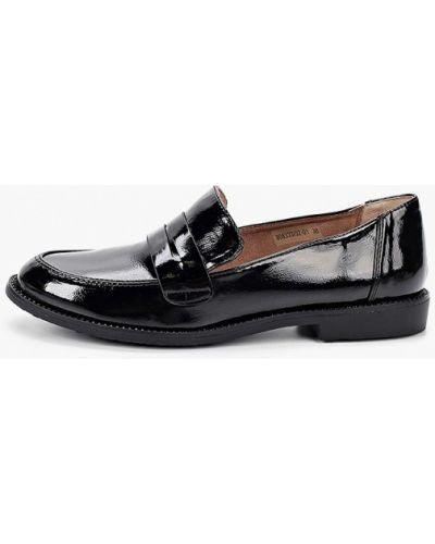 Черные лаковые кожаные лоферы Betsy