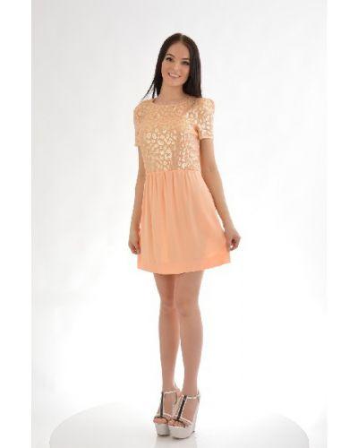 Платье из вискозы - оранжевое Byblos