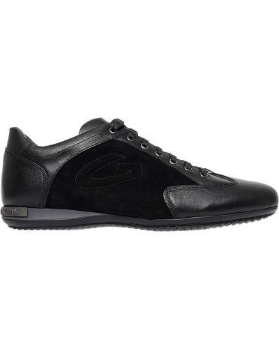 Кожаные кроссовки - черные Alberto Guardiani