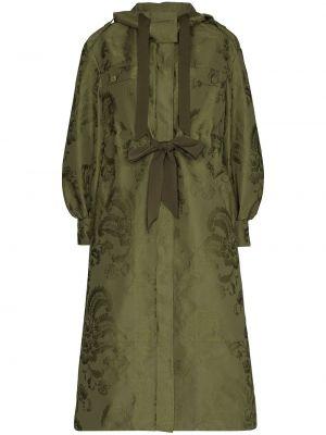 Зеленое пальто с капюшоном на пуговицах Erdem