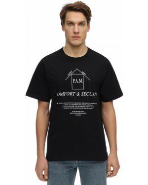 Czarny t-shirt bawełniany P.a.m. Perks And Mini