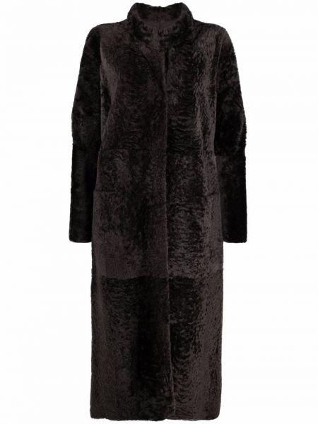 Пальто из овчины - коричневое Federica Tosi