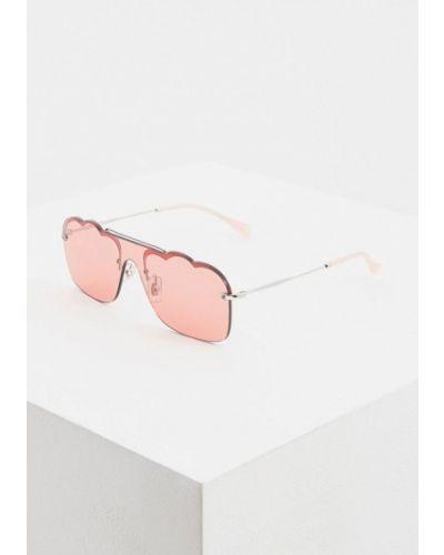 Солнцезащитные очки розовый итальянский Miu Miu