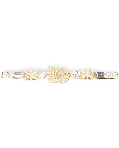 Золотистая заколка золотая металлическая Dolce & Gabbana