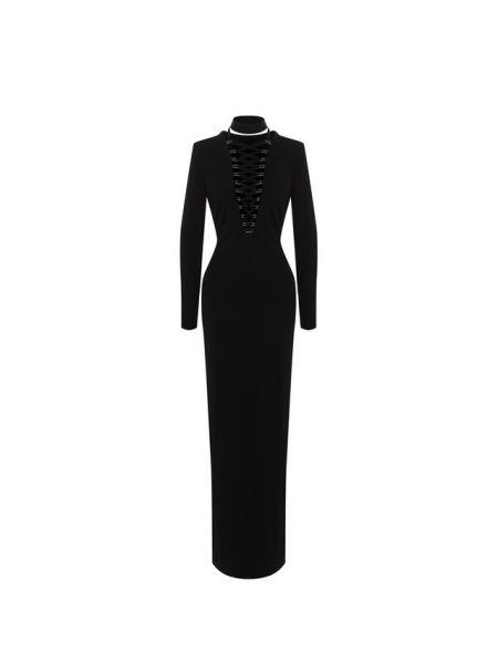 Вечернее платье с длинными рукавами - черное Tom Ford