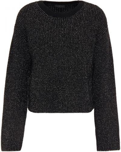 Czarny sweter wełniany zapinane na guziki Rag & Bone