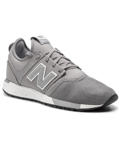 Skórzany sneakersy sztuczna skóra szary New Balance