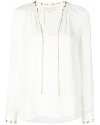 Блузка с длинным рукавом с цепочкой с манжетами Michael Michael Kors