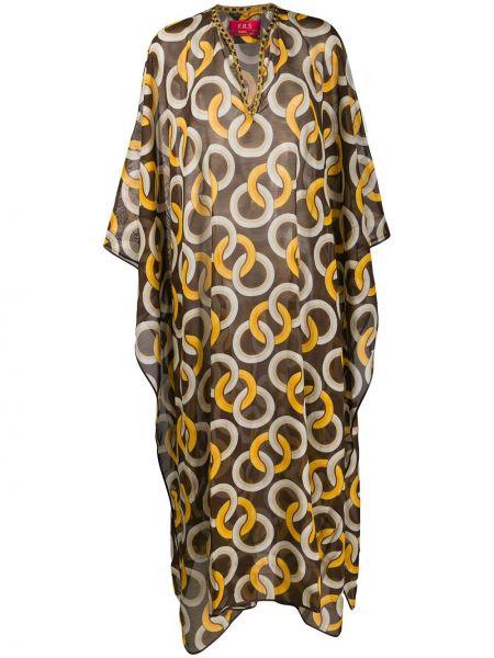 Шелковое платье с разрезами по бокам летучая мышь на молнии F.r.s. For Restless Sleepers