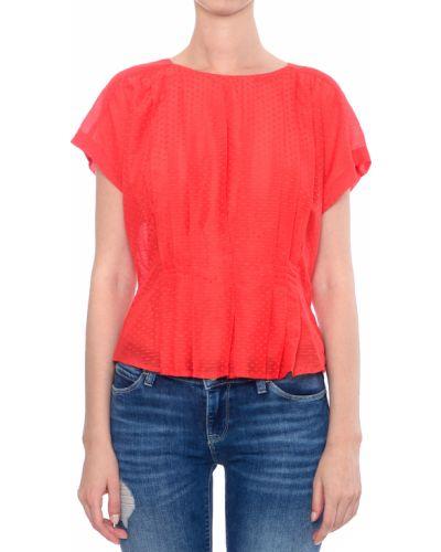 Коралловая блузка Armani Jeans