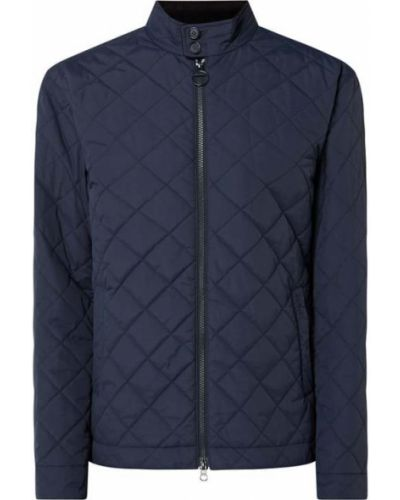 Niebieska kurtka pikowana zapinane na guziki Barbour