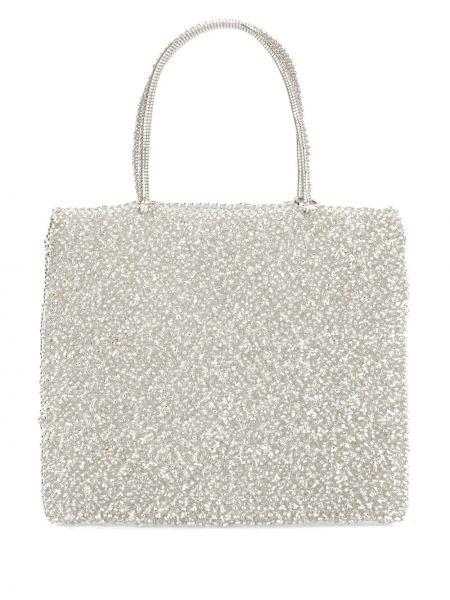 Серебряная сумка-тоут круглая Anteprima