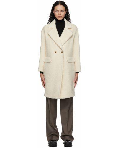 Белое пальто из альпаки Mackage