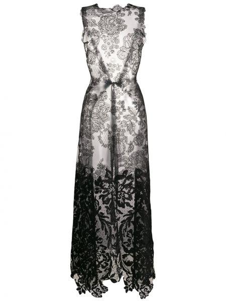 Кружевная блузка - черная Vera Wang