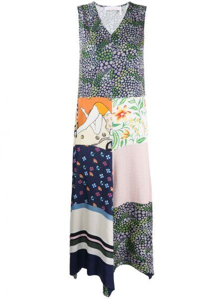 Летнее платье деловое пэчворк See By Chloe