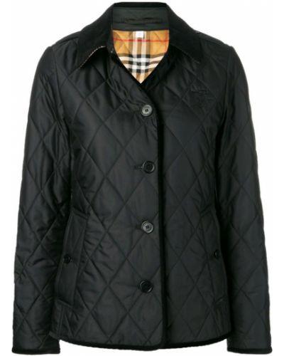 Стеганая куртка черная Burberry