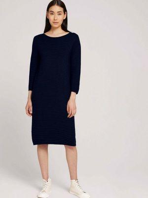 Вязаное платье - синее Tom Tailor