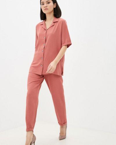 Костюмный красный брючный костюм Pink Summer