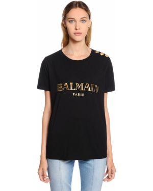 Рубашка с принтом с воротником-стойкой Balmain