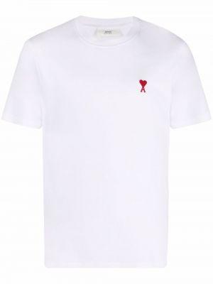 Хлопковая футболка - белая Ami Paris