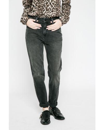Прямые джинсы серые с эффектом потертости Lee