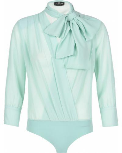 Боди блуза бирюзовый Elisabetta Franchi