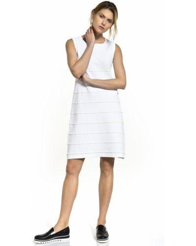 Biała sukienka z wiskozy Deni Cler Milano