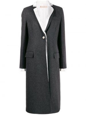 Шерстяное пальто - серое Marni