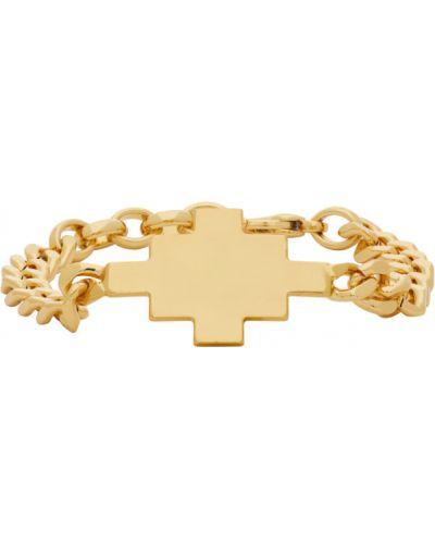 Krzyż złoto za pełne Marcelo Burlon County Of Milan